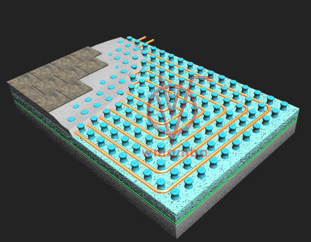 struttura pavimento radiante